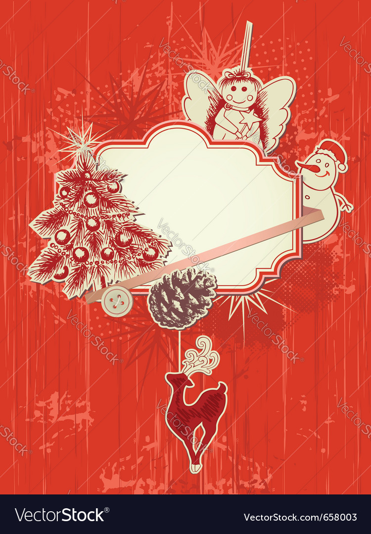 Scrap booking kit for christmas vector | Price: 1 Credit (USD $1)