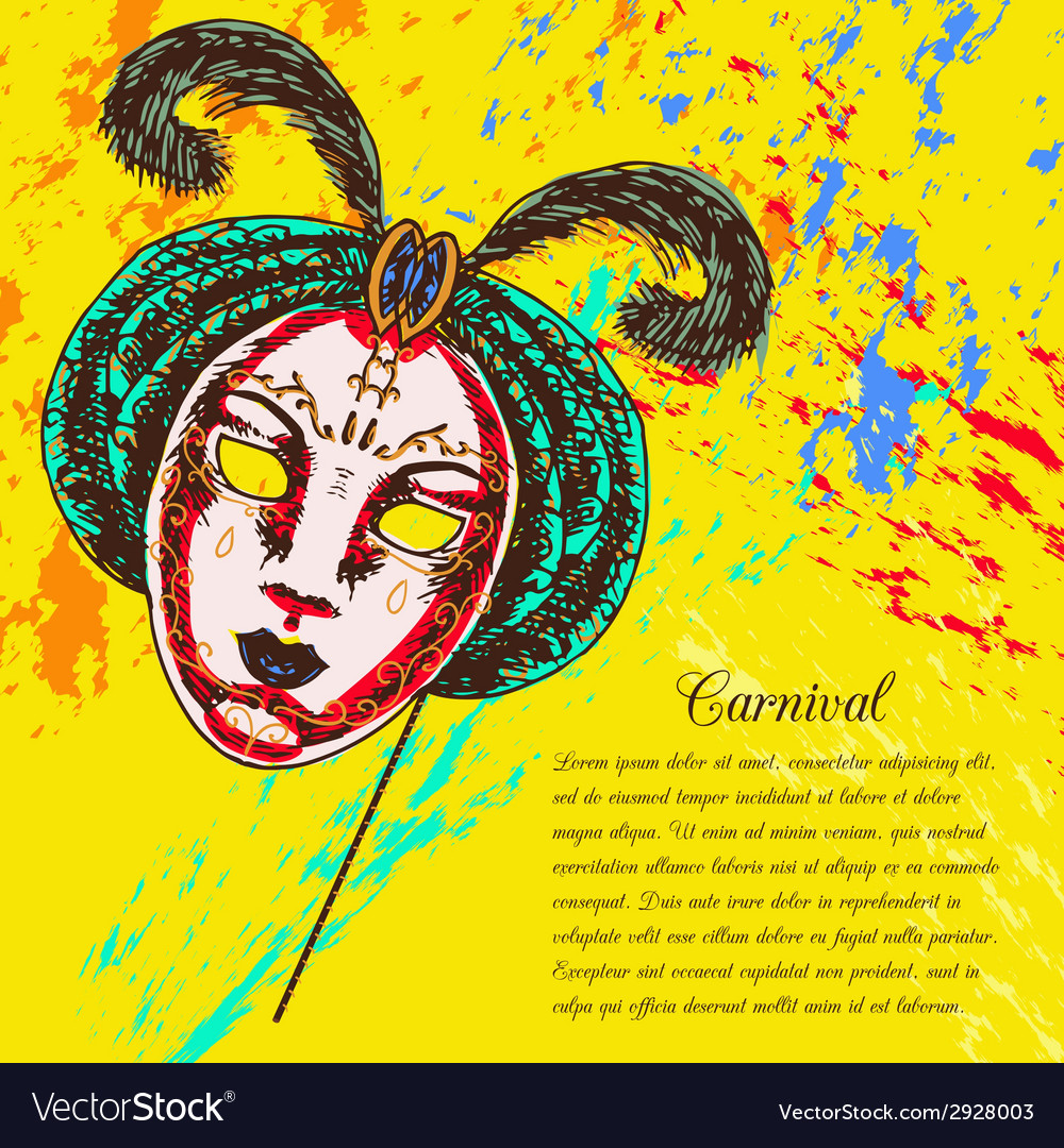Venetian carnival mask vector | Price: 1 Credit (USD $1)