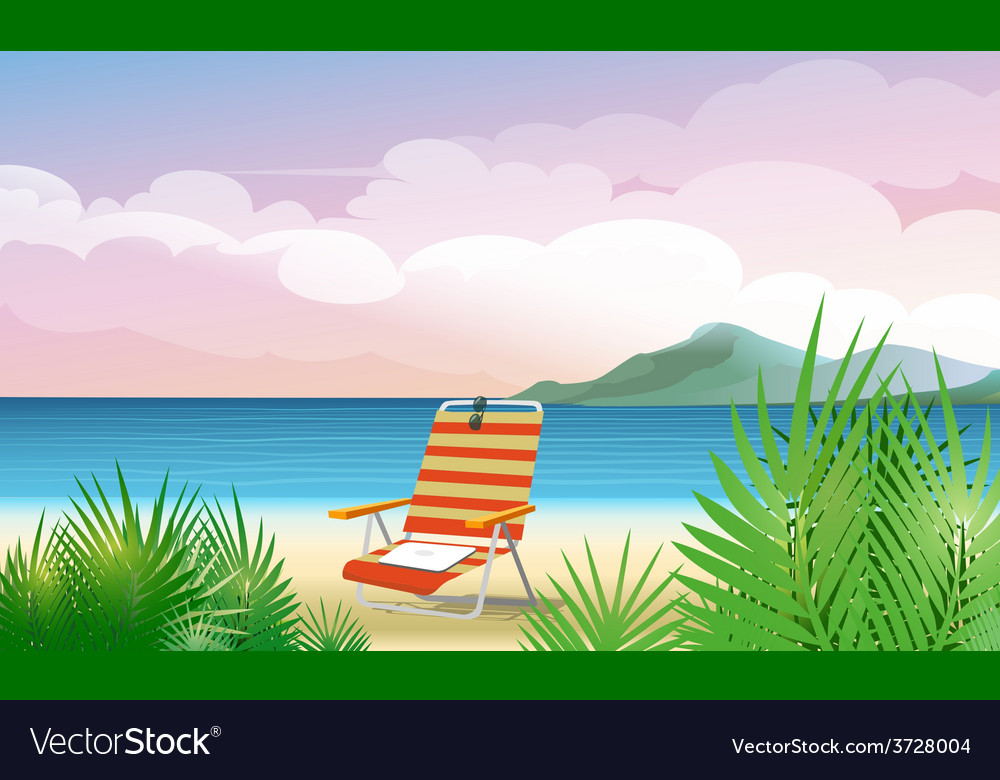 Beach vacation vector | Price: 1 Credit (USD $1)