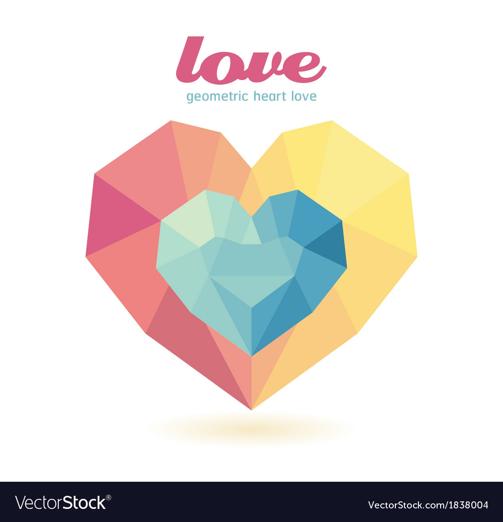 Geometric heart modern design graphic vector | Price: 1 Credit (USD $1)
