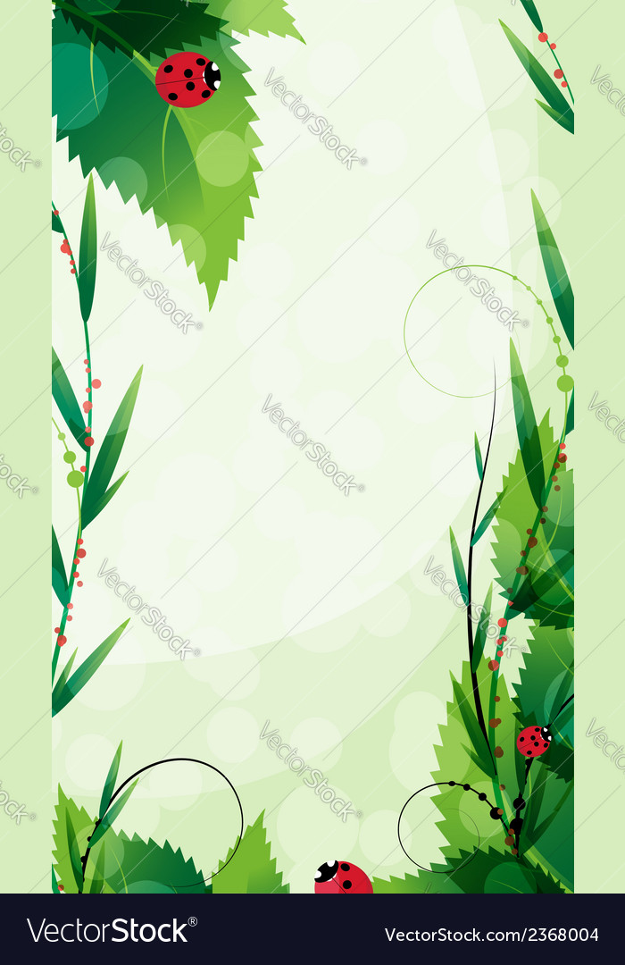 Ladybugs in the summer sunshine vector | Price: 1 Credit (USD $1)