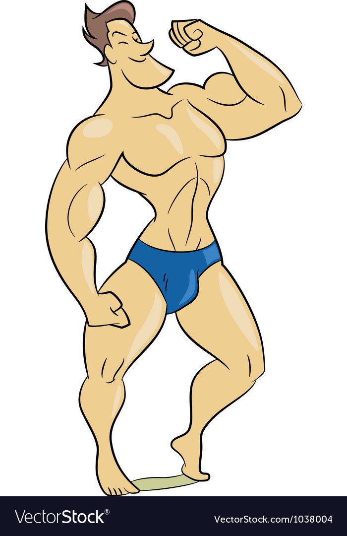 Muscle man vector | Price: 1 Credit (USD $1)