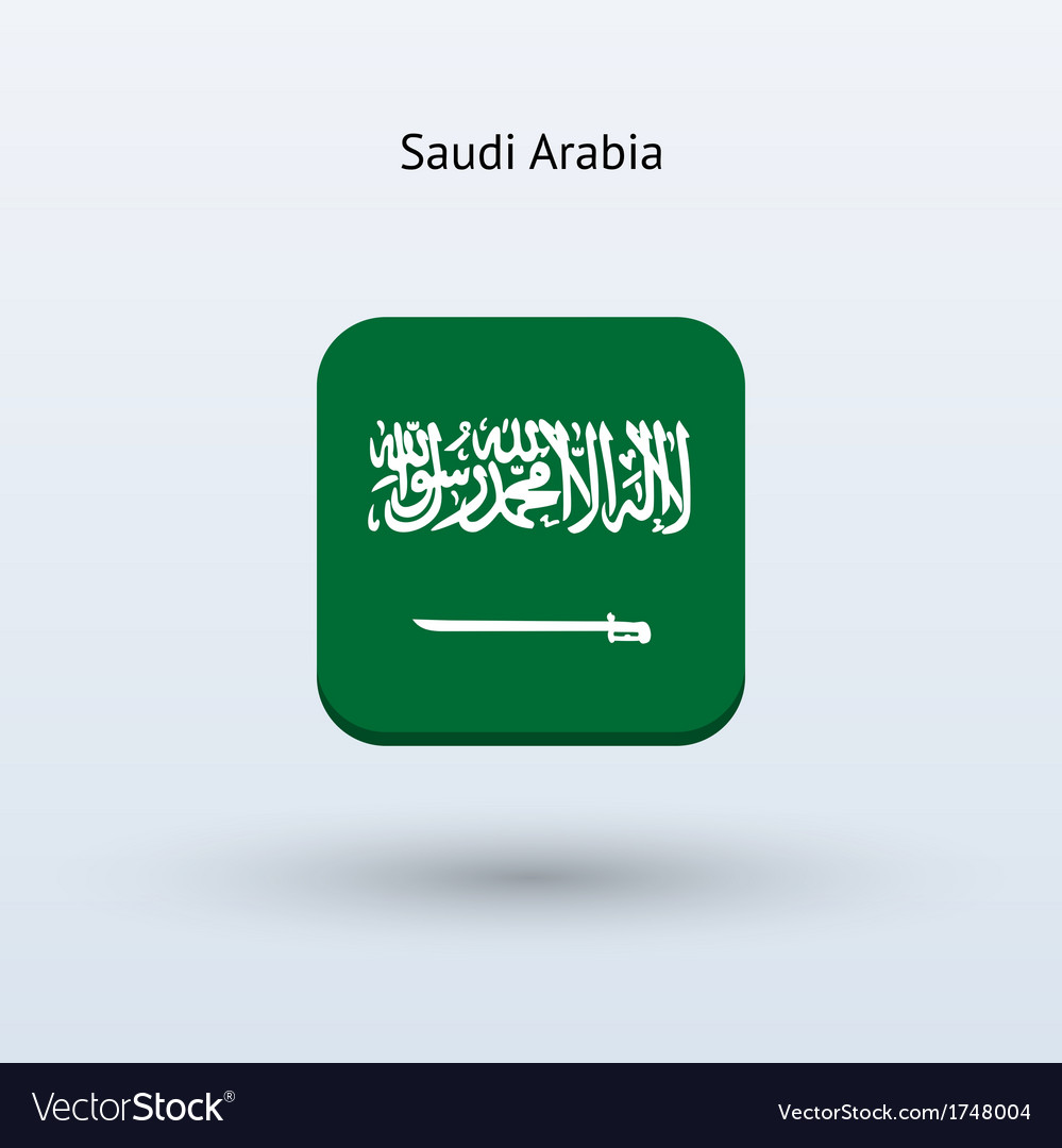 Saudi arabia flag icon vector | Price: 1 Credit (USD $1)