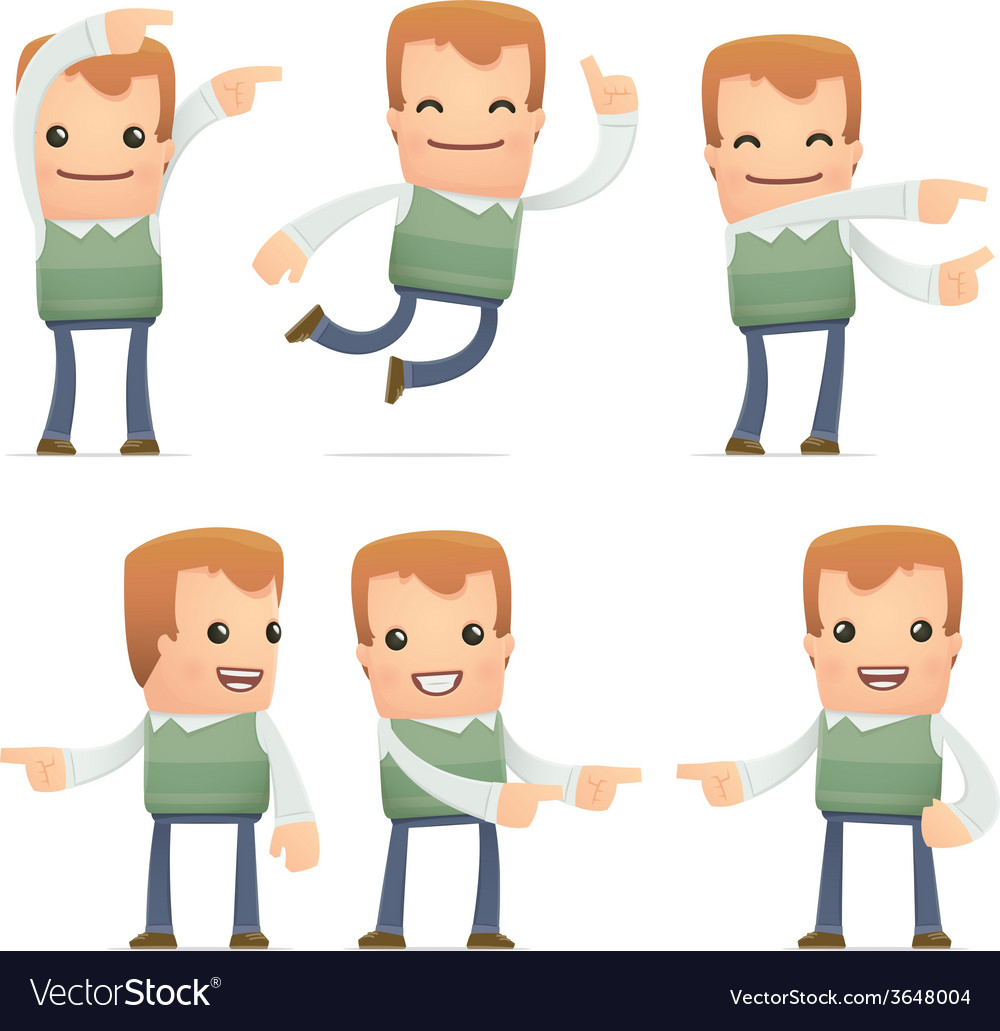 Set of neighbor character in different poses vector | Price: 1 Credit (USD $1)