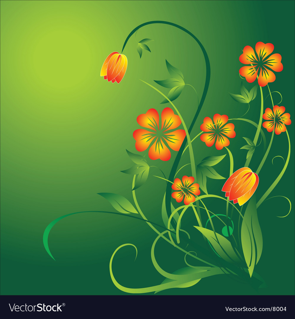 Springtime flower vector | Price: 1 Credit (USD $1)