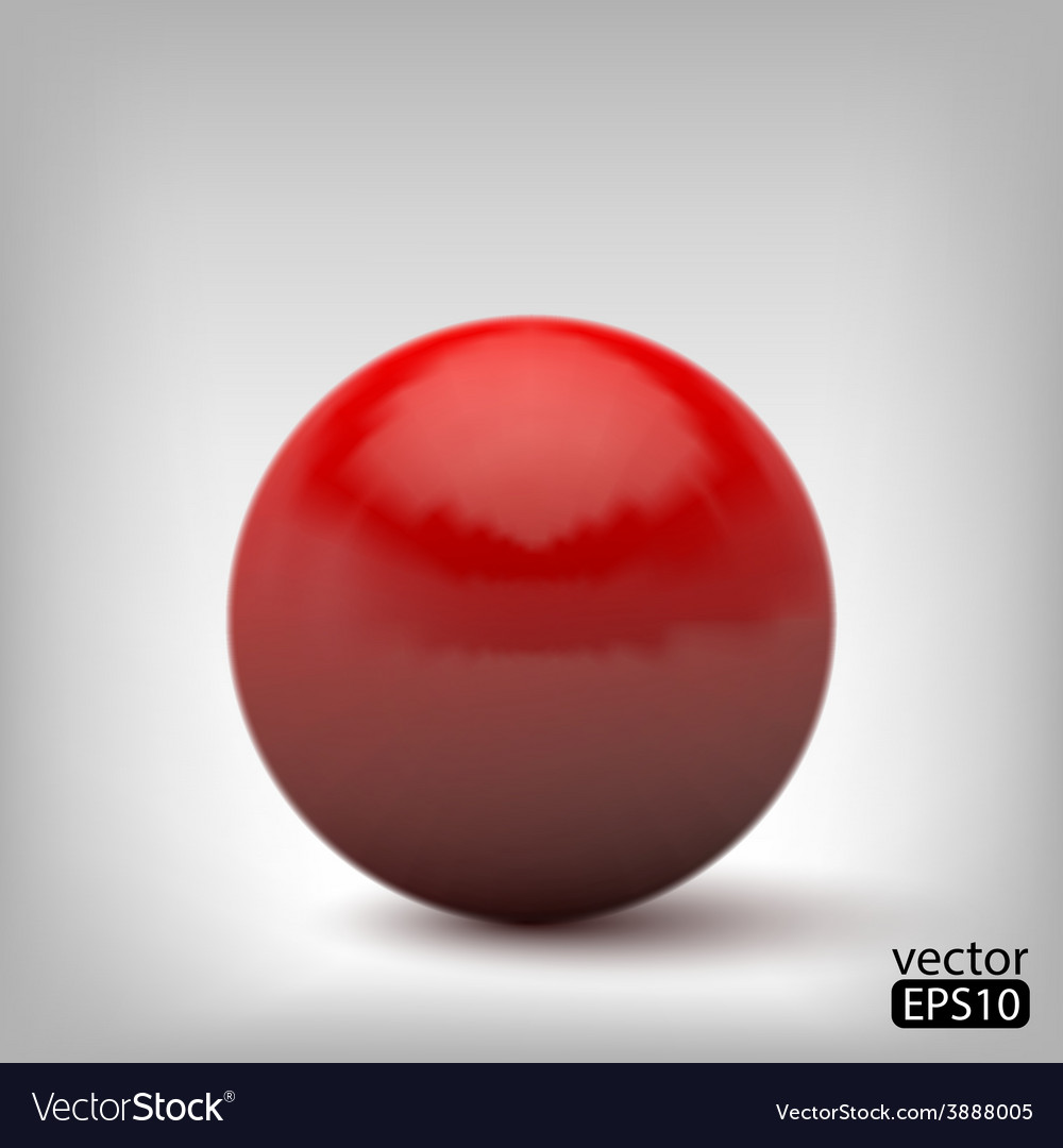 3d red ball vector | Price: 1 Credit (USD $1)