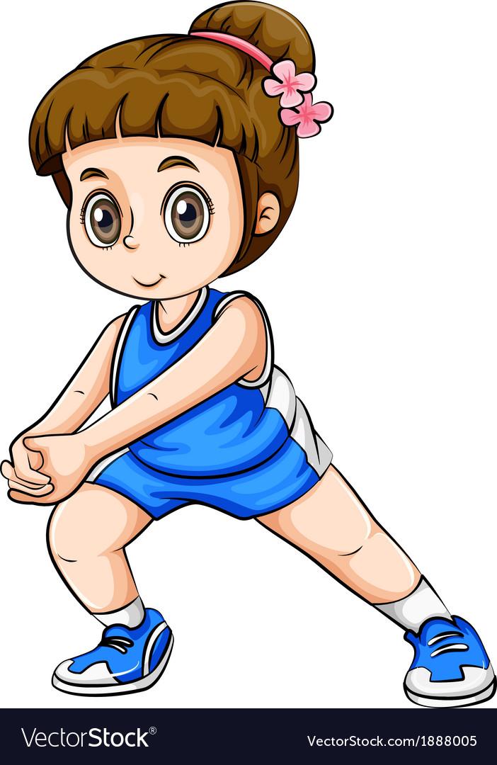 A caucasian girl exercising vector | Price: 3 Credit (USD $3)