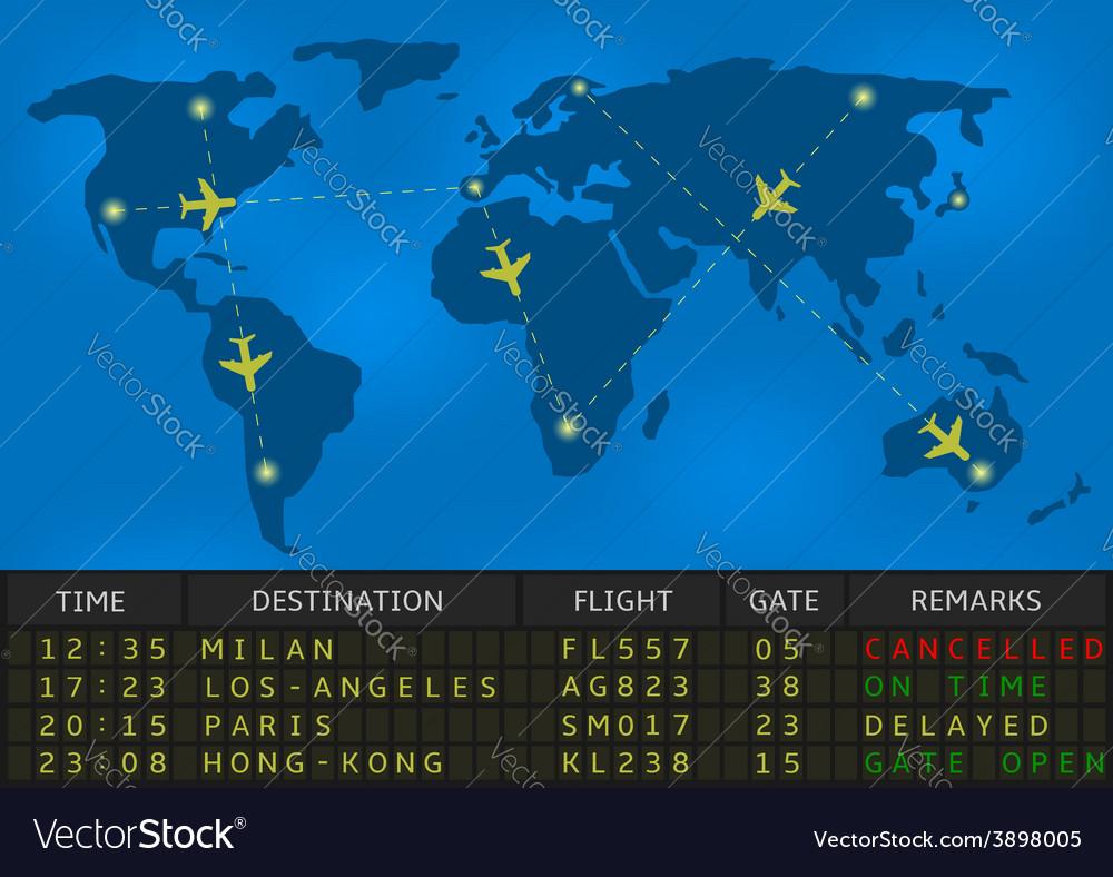 Airport departure board vector | Price: 1 Credit (USD $1)