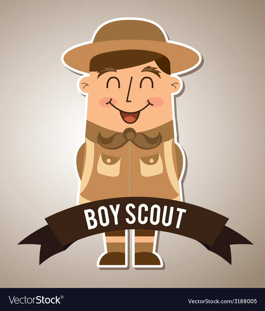 Boy scout design vector | Price: 1 Credit (USD $1)
