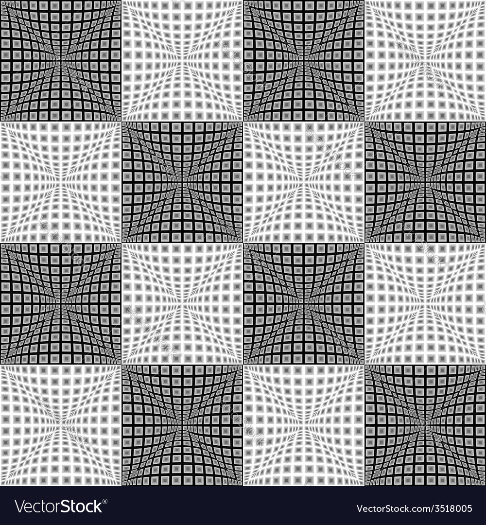 Design seamless monochrome checked pattern vector | Price: 1 Credit (USD $1)