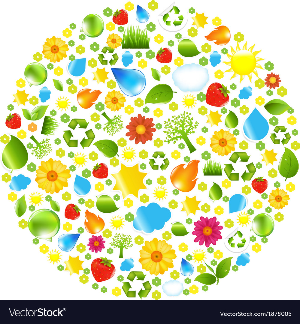 Eco ball vector | Price: 1 Credit (USD $1)