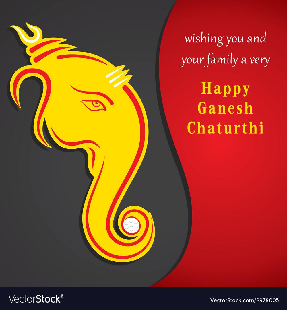 Happy ganesha chaturthi festival greeting vector   Price: 1 Credit (USD $1)