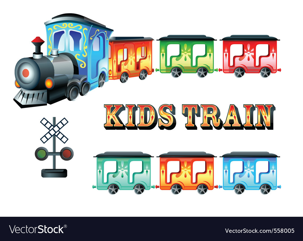 Kids train vector | Price: 3 Credit (USD $3)