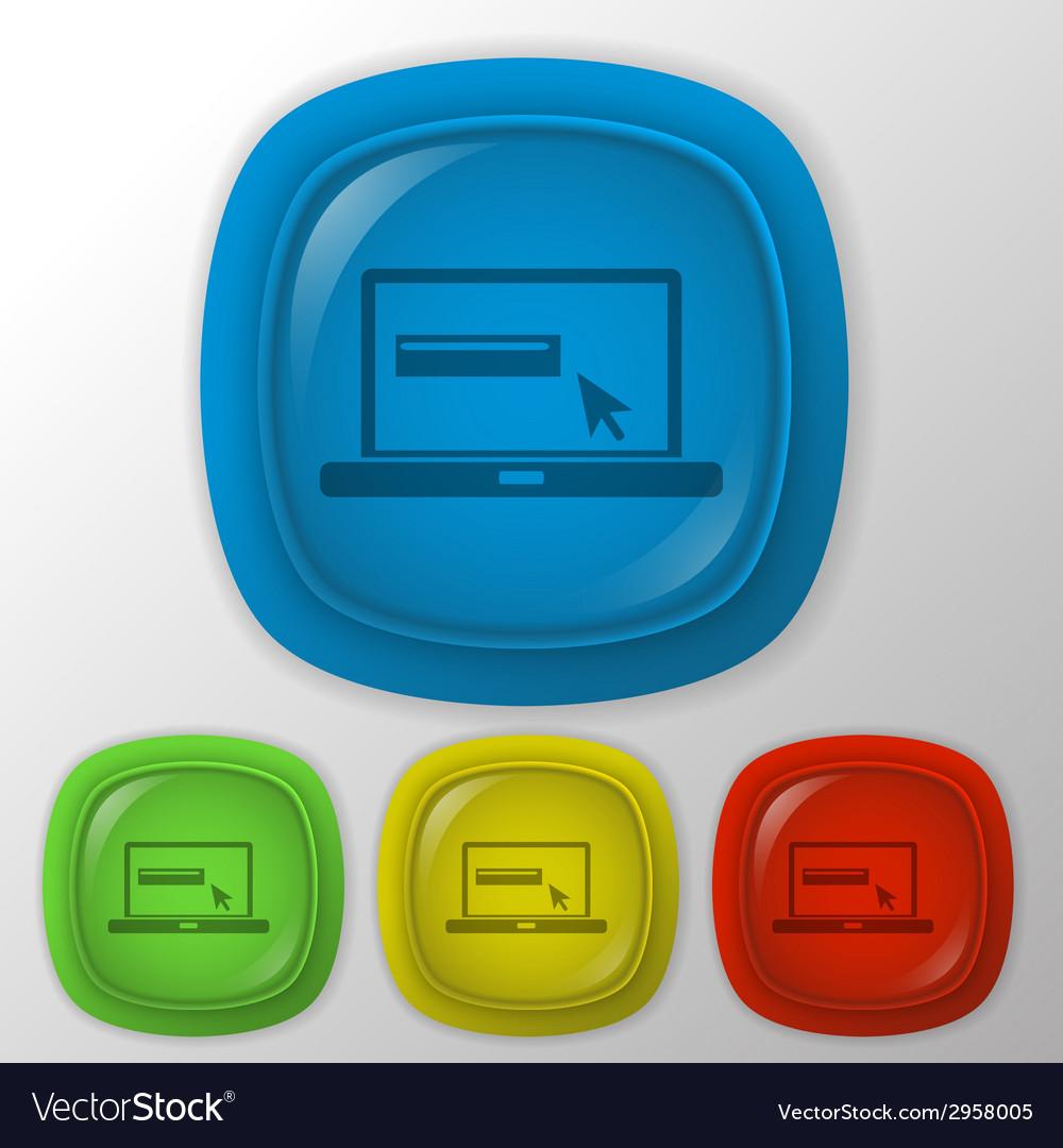 Laptop with symbol web arrow vector | Price: 1 Credit (USD $1)