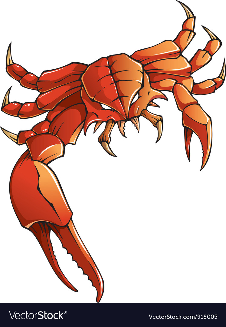 Monster crab vector | Price: 3 Credit (USD $3)