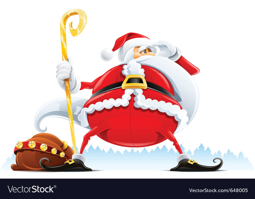 Santa claus with sack vector | Price: 3 Credit (USD $3)