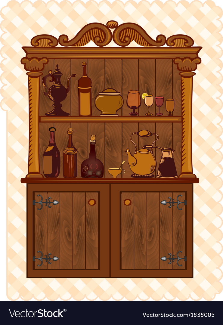 Vintage cupboard vector | Price: 1 Credit (USD $1)