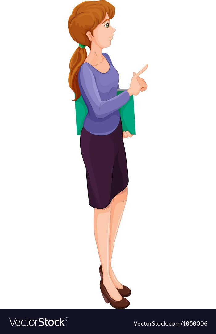 A business woman vector | Price: 1 Credit (USD $1)