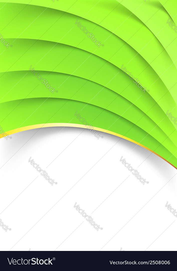 Bright green layered folder template vector   Price: 1 Credit (USD $1)