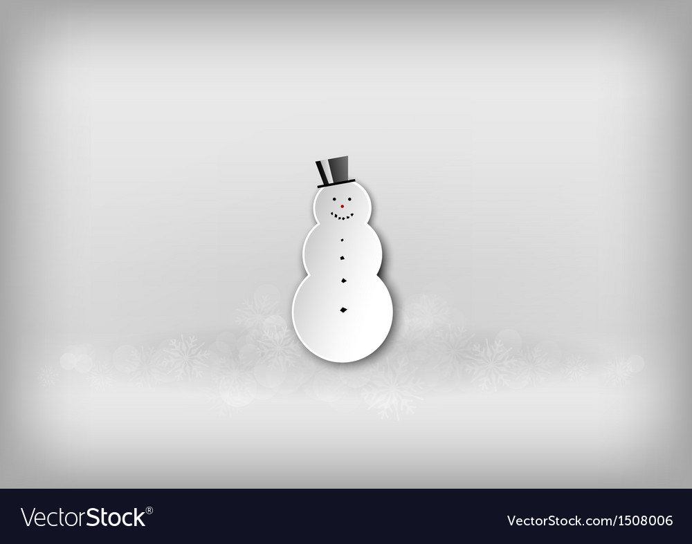 Christmass snowman grey vector | Price: 1 Credit (USD $1)