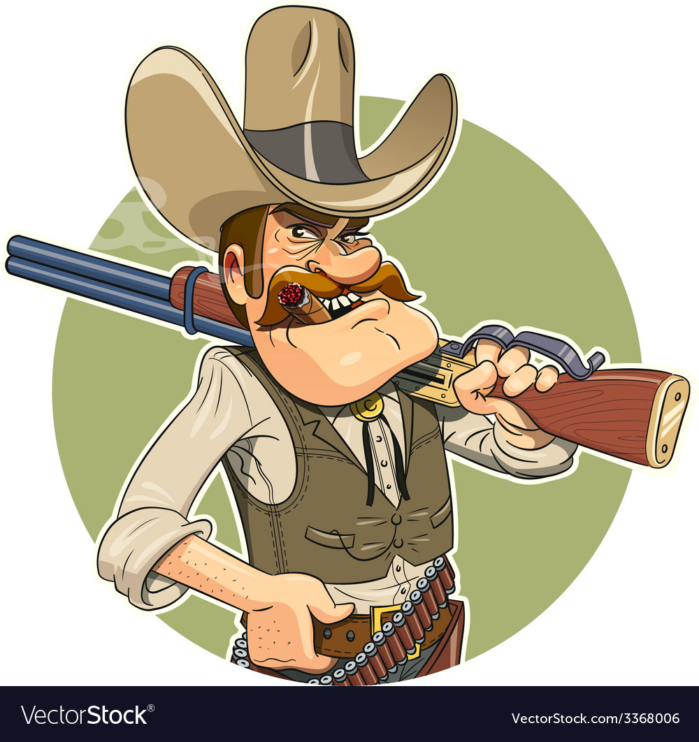 Cowboy with gun vector | Price: 3 Credit (USD $3)