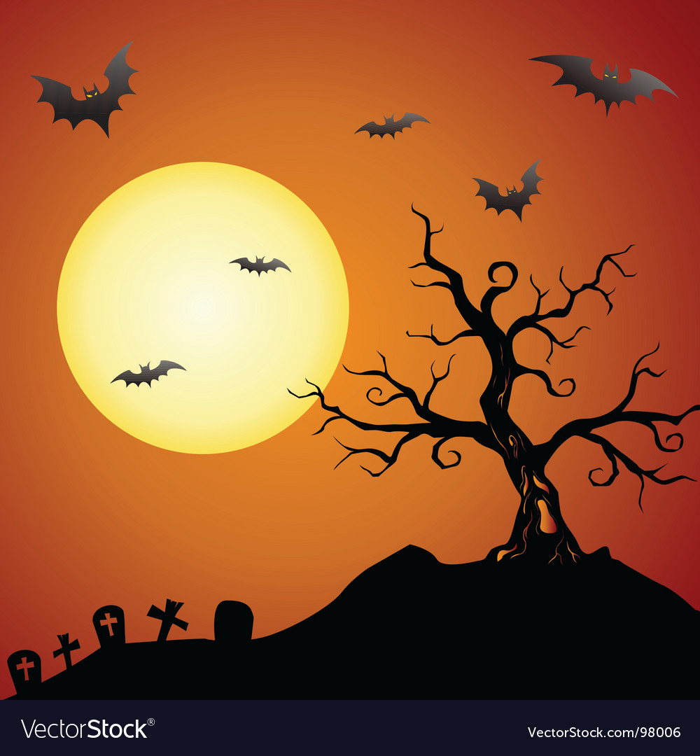 Creepy tree vector | Price: 1 Credit (USD $1)