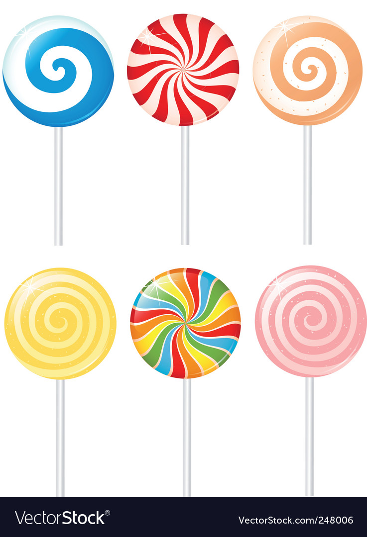 Lollipops vector | Price: 3 Credit (USD $3)