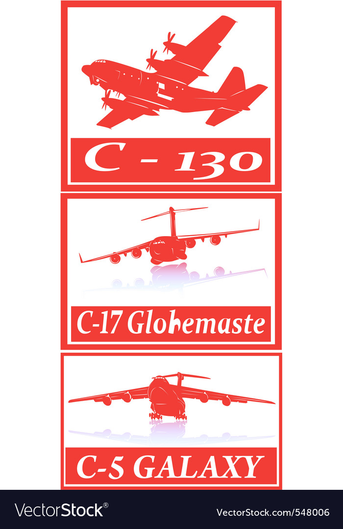 Military cargo planes vector | Price: 1 Credit (USD $1)