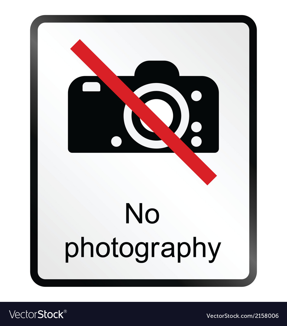 No photography information sign vector | Price: 1 Credit (USD $1)