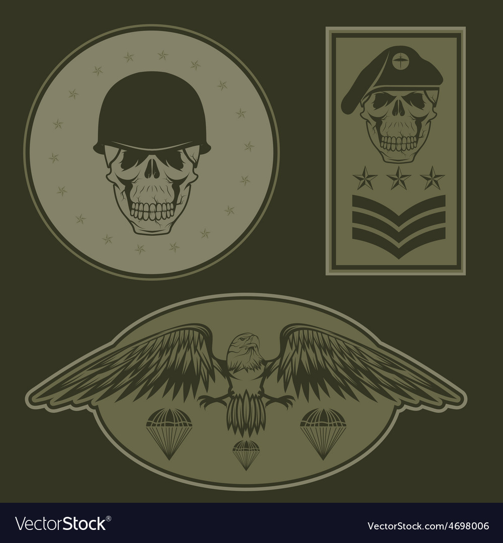 Special unit military emblem set design template vector | Price: 1 Credit (USD $1)
