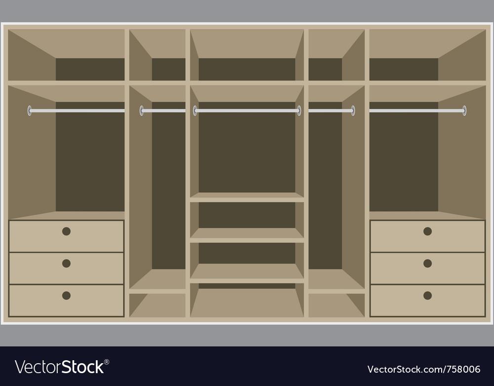Wardrobe room vector | Price: 1 Credit (USD $1)