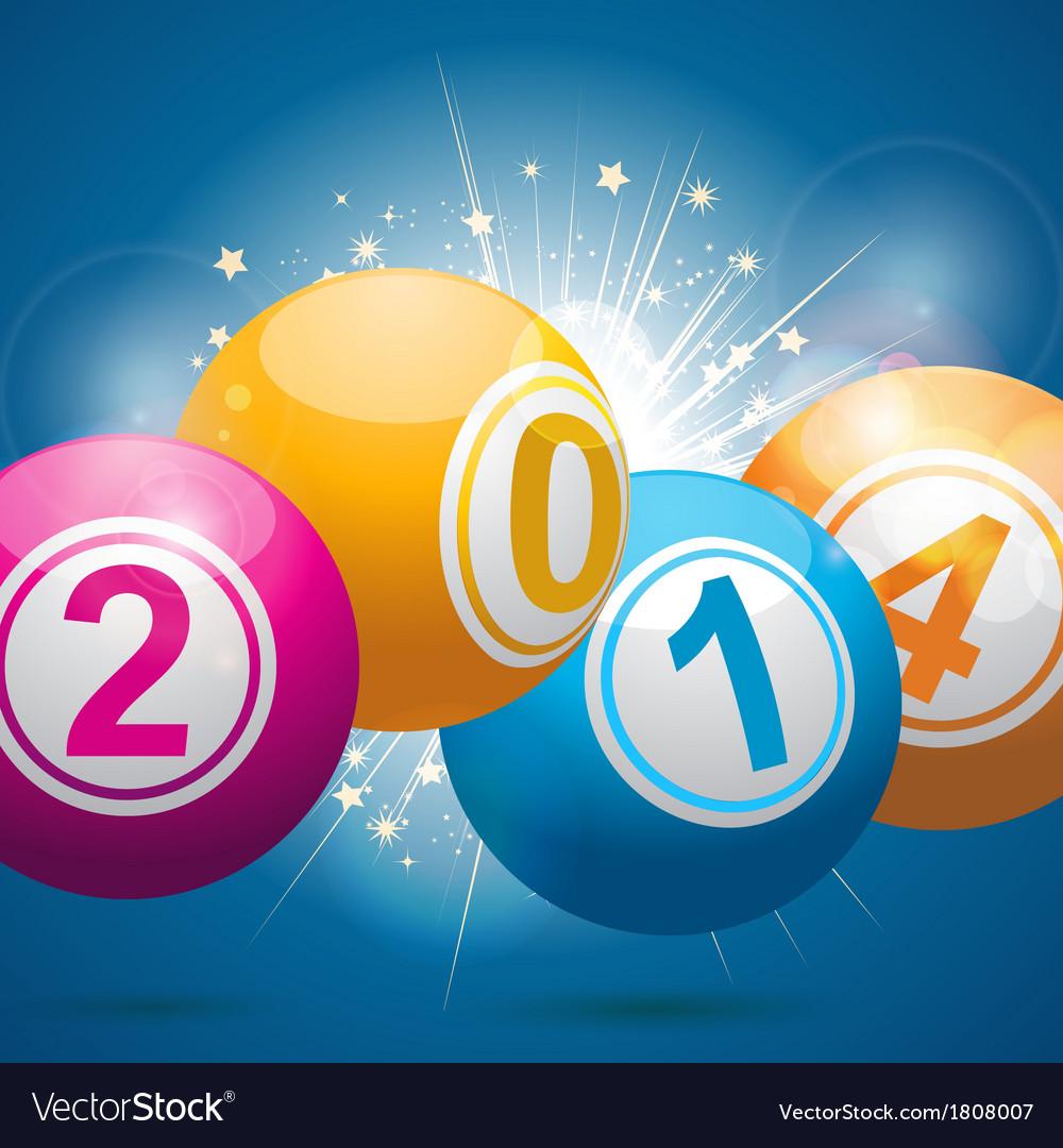 2014 bingo lottery balls vector | Price: 1 Credit (USD $1)