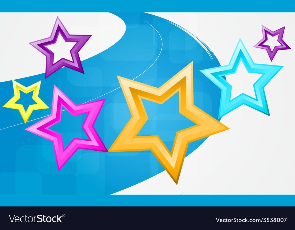 Abstract background with motley stars vector | Price: 1 Credit (USD $1)