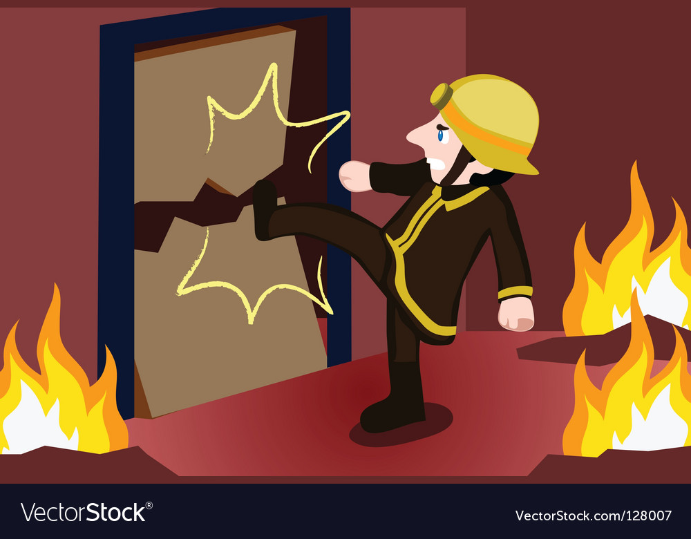 Fireman kick vector | Price: 1 Credit (USD $1)
