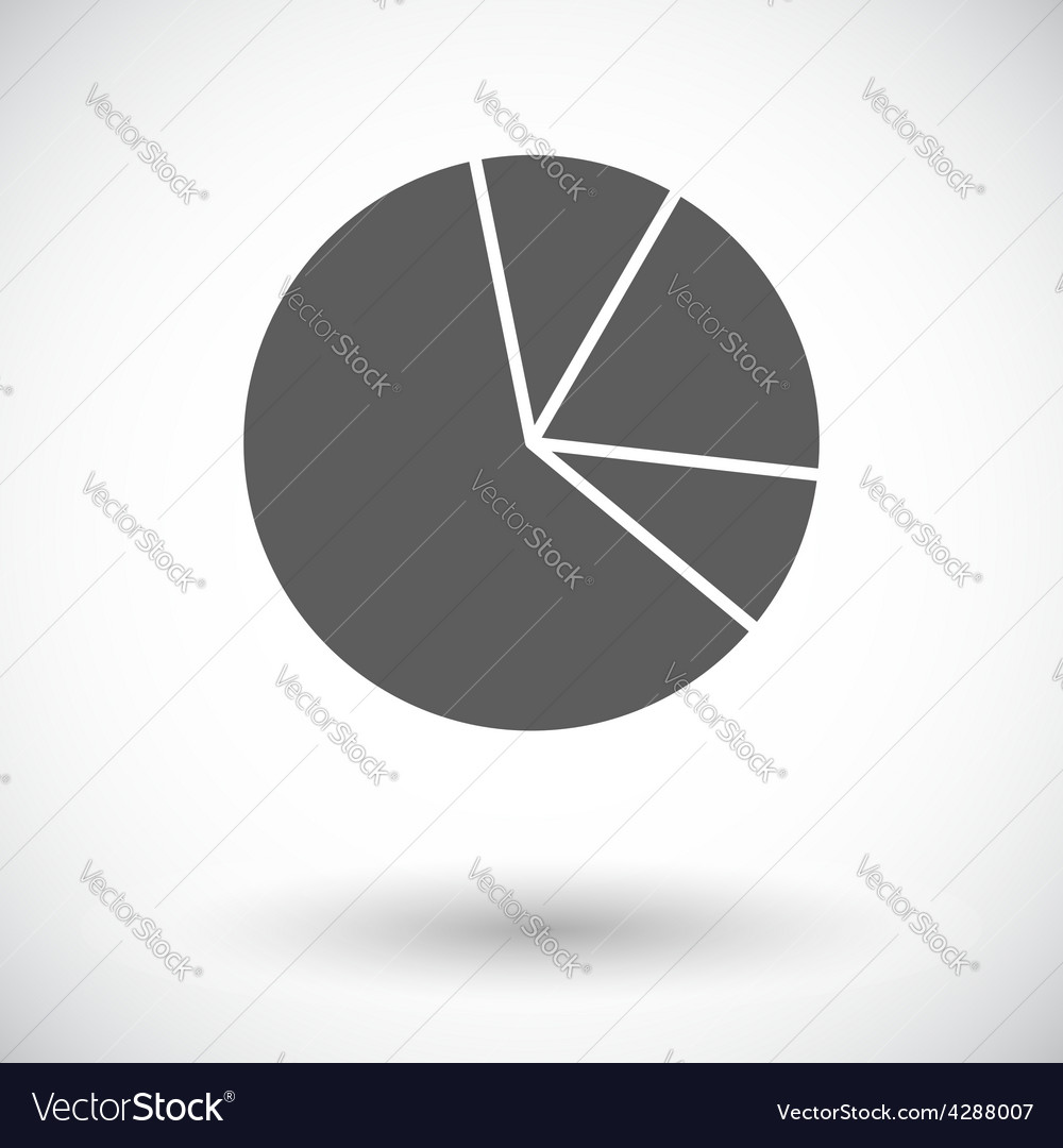 Graph single flat icon vector | Price: 1 Credit (USD $1)