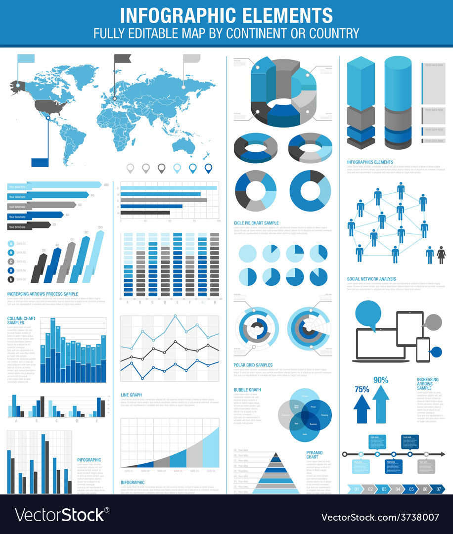 Infographics cold ok vector | Price: 1 Credit (USD $1)