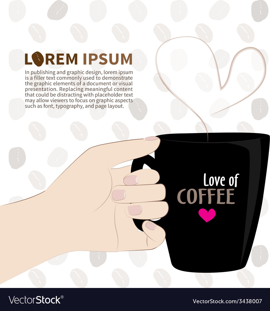 Love of coffee vector | Price: 1 Credit (USD $1)
