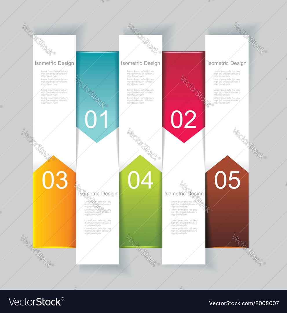 Modern design template vertical banners vector | Price: 1 Credit (USD $1)