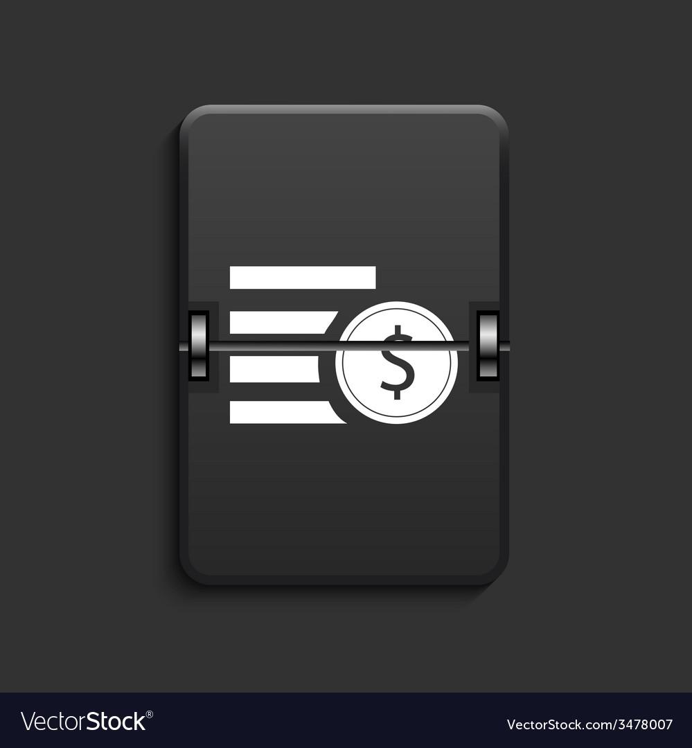 Modern scoreboard black icon vector   Price: 1 Credit (USD $1)