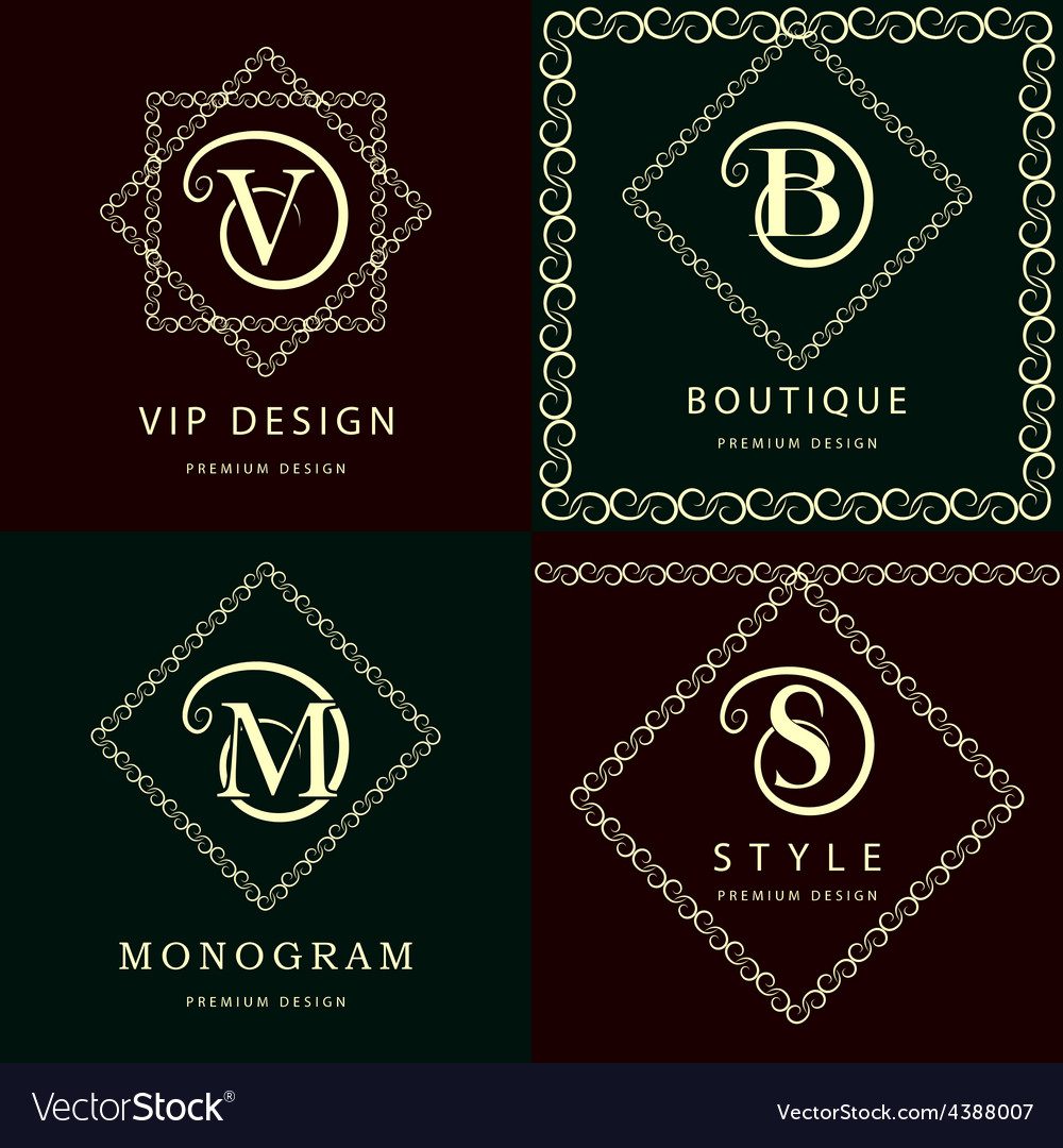 Monogram design elements graceful template vector   Price: 1 Credit (USD $1)