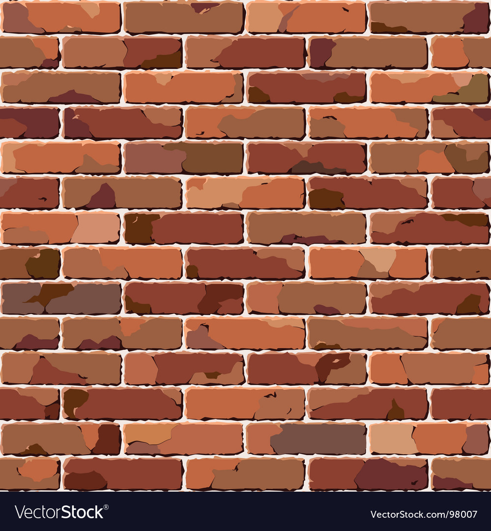 Old brick wall seamless pattern vector | Price: 1 Credit (USD $1)