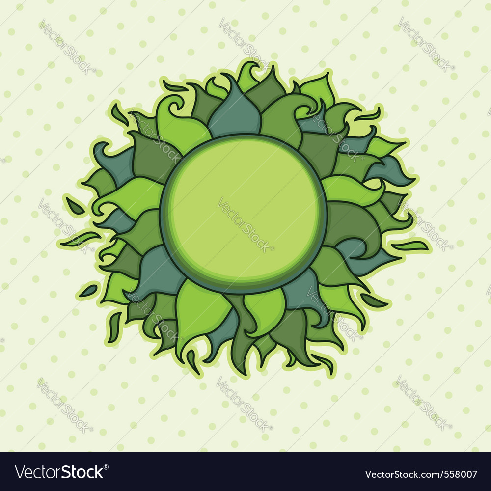 Round frame with colorful leaves vector | Price: 1 Credit (USD $1)