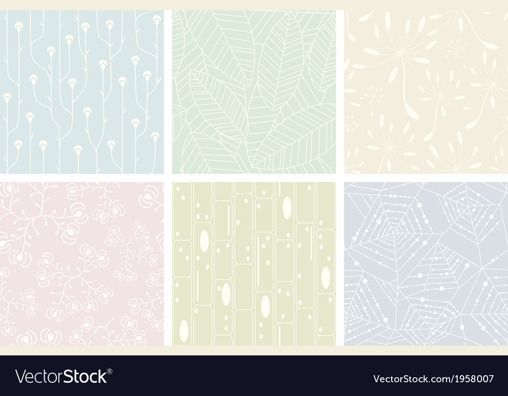 Set of organic patterns vector | Price: 1 Credit (USD $1)