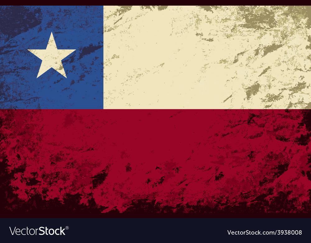 Chilean flag grunge background vector | Price: 1 Credit (USD $1)