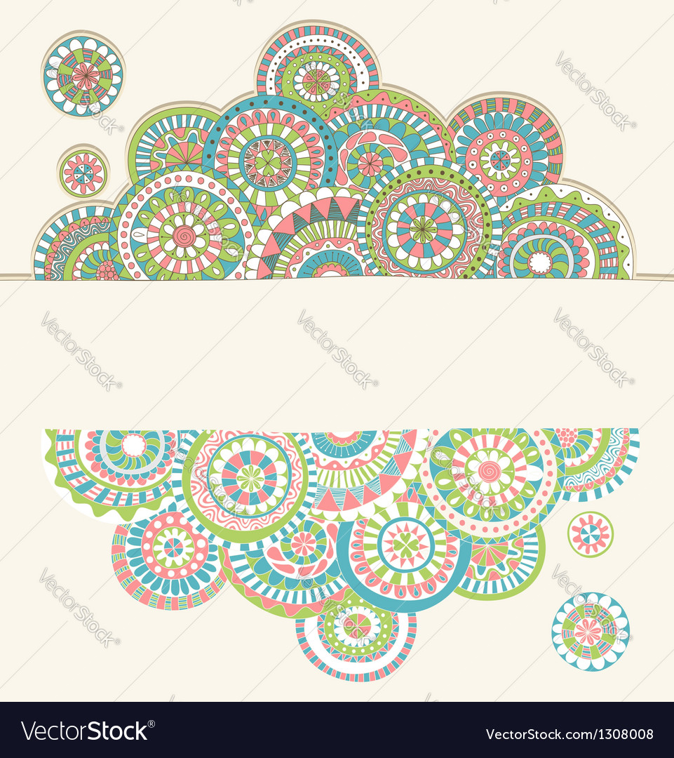 Circles doodle color vector | Price: 1 Credit (USD $1)