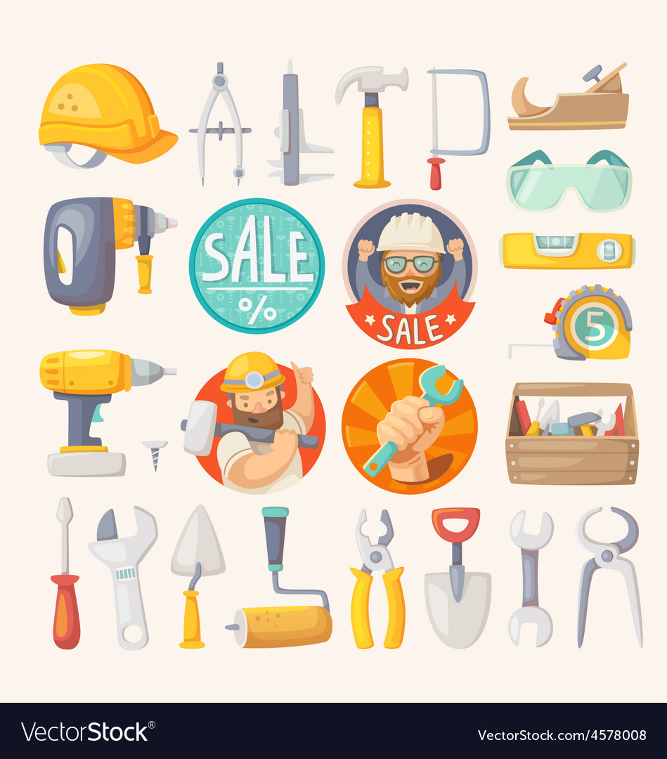 Collection of tools for house remodeling vector | Price: 5 Credit (USD $5)