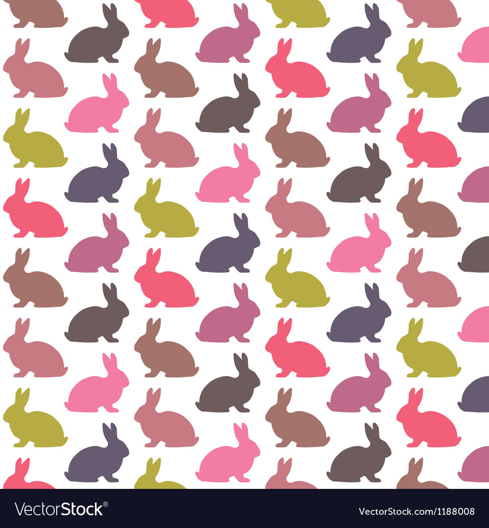 Colorful rabbit pattern vector | Price: 1 Credit (USD $1)