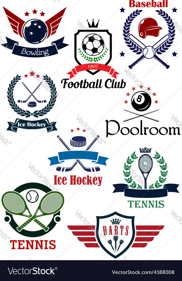 Creative sports logos and banners vector | Price: 1 Credit (USD $1)