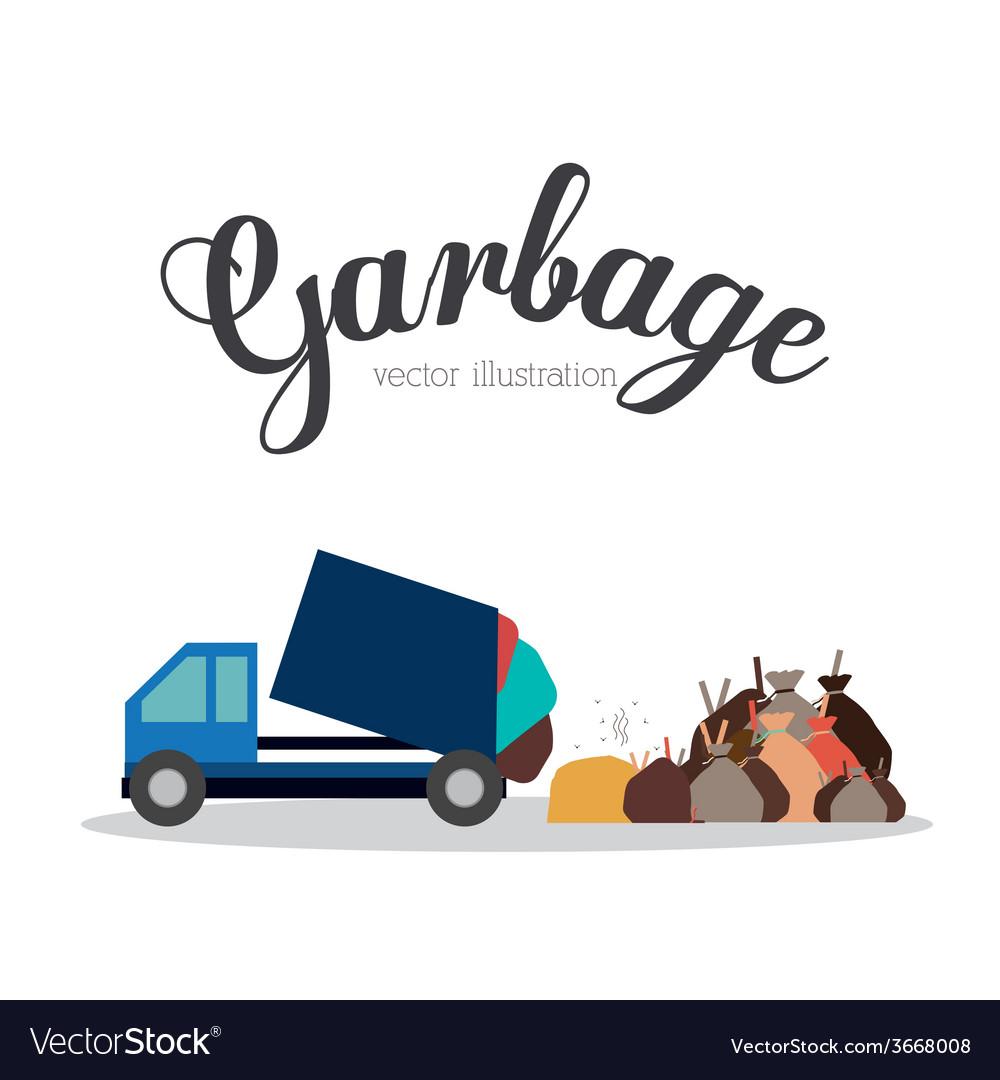 Garbage design vector | Price: 1 Credit (USD $1)