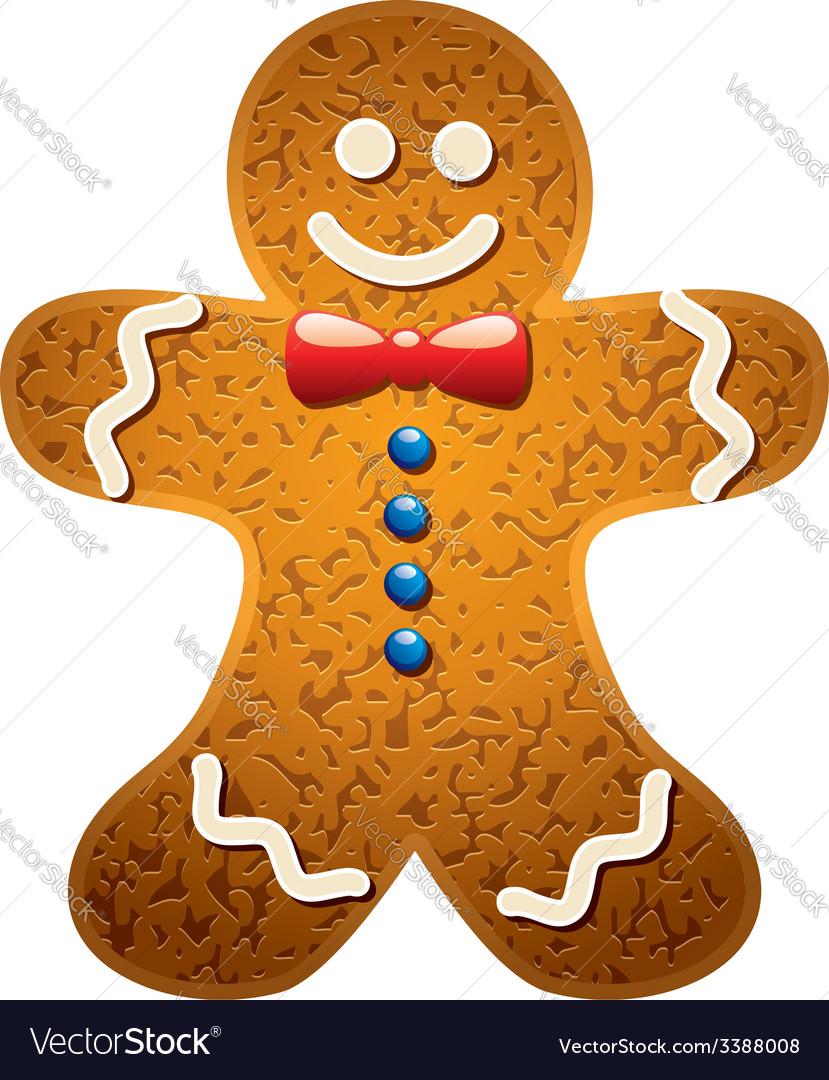 Gingerbread cookie vector | Price: 1 Credit (USD $1)